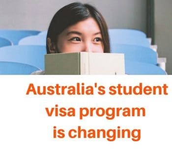 Australia's student visa program is changing.