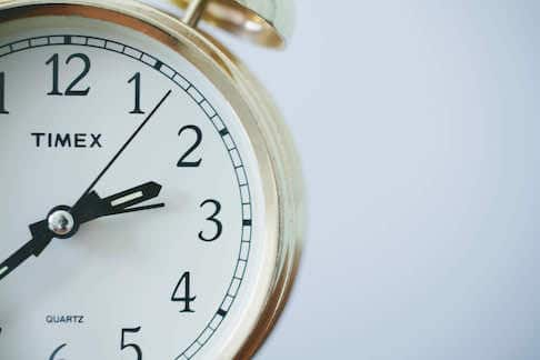 Photo of a clock by Sonja Langford. unsplash.com/photos/eIkbSc3SDtI